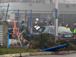 катастрофа на бензиностанция